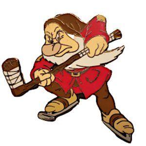 Disney Pin Grumpy Playing Hockey